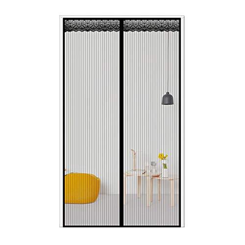 FOOX Anti Moskito Türvorhang, Fliegengitter Tür Insektenschutz Magnet Fliegen Gitter Vorhang Fliegenvorhang für Balkontür Wohnzimmer,36x80in/90x200CM - 36 Wohnzimmer Vorhänge