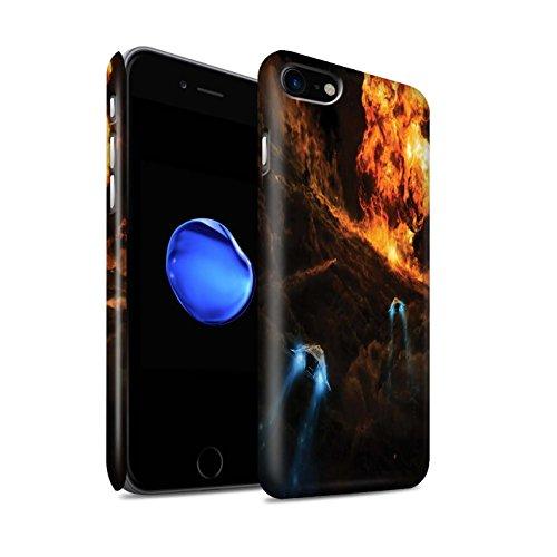 Offiziell Chris Cold Hülle / Matte Snap-On Case für Apple iPhone 8 / Chaos Entfesselt Muster / Fremden Welt Kosmos Kollektion Chaos Entfesselt