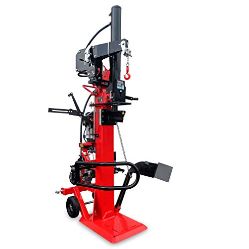 CROSSFER Holzspalter LS22T-PTO+E400V / 22 Tonnen Spaltkraft / 110cm Spaltlänge/Zapfwellenantrieb Dreipunkt + Elektromotor 5,1kW 400V / 2 Hand Bedienung/inkl. Hydraulische Seilwinde 490 Kg Zugleistung