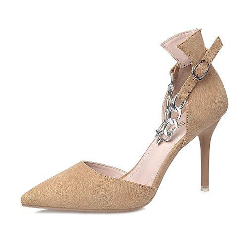 FLYRCX Semplice moda punta metallo sexy belle scarpe tacco lady glamour party scarpe dimensione europea: 34-39 C