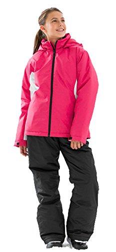 Mädchen Skianzug pink-schwarz Schnneeanzug Ski Anzug (128)