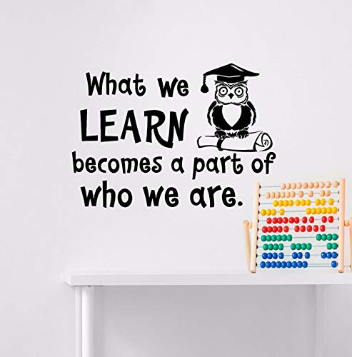 ung Wandtattoo Zitat Was Wir Lernen Wird Ein Teil Dessen, Wer Wir Sind Wand Aufkleber Wandbild Schlafzimmer Klassenzimmer Dekor 42X59Cm ()