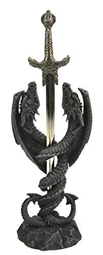 Eindrucksvoller Brieföffner Letter Opener Dragon Love tiefschwarz Gothic