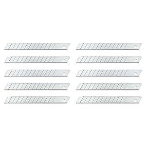 Wedo 789 Ersatzklingen Abbrechklingen (für handelsübliche Cutter, Carbonstahl, 9 mm, Etui) 10 Stück, silber