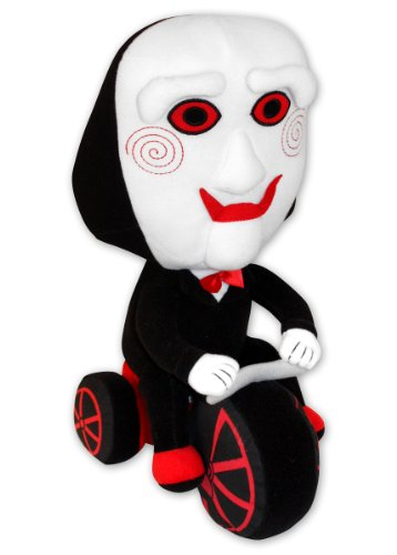 Muñeco de peluche Saw 'Payaso Jigsaw en triciclo'