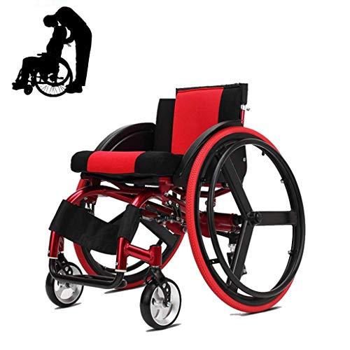 Sport Rollstuhl, Hinterrad Schnelldemontag Mit Eigenantrieb Rollstuhl, Faltbare Transport Rollstuhl Ohne Armlehnen, Geeignet Für Ältere Menschen, Erwachsene,A