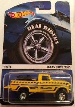 HOT WHEELS 2015 REAL RIDERS HERITAGE #17/18 TEXAS DRIVE'EM YELLOW by Texas drive'em