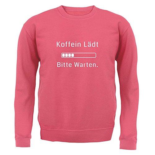 Koffein lädt, bitte warten! - Unisex Pullover/Sweatshirt - Altrosa - L