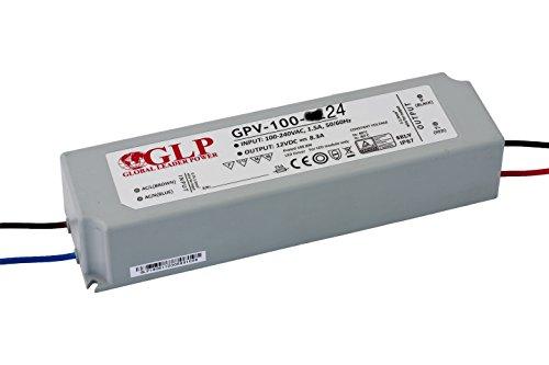 24v 100w LED Streifen Driver GPV-100-24 Schaltnetzteil IP67 Netzteil Trafo