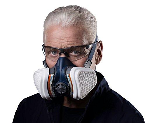 Elipse SPR496 Disolventes y Pintura A2P3 Mitad Máscara Mascarilla con