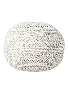 HEMA pouf tricot 50 cm - ivoire