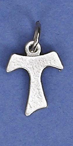 Tau Kreuz klein Charme Medaillon (of St. Francis) (Großes Kruzifix Charme)