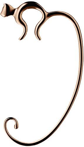 Alessi FGO01 GP Minou Taschenhaken - Edelstahl 18/10 mit PVD Beschichtung, Golden Pink.