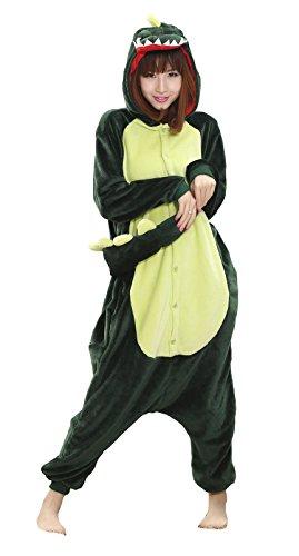 Nicetage Cosplay Onesie Jumpsuits Anime Kostuem Erwachsene Pyjama Overall Hausanzug Kigurum Dino M
