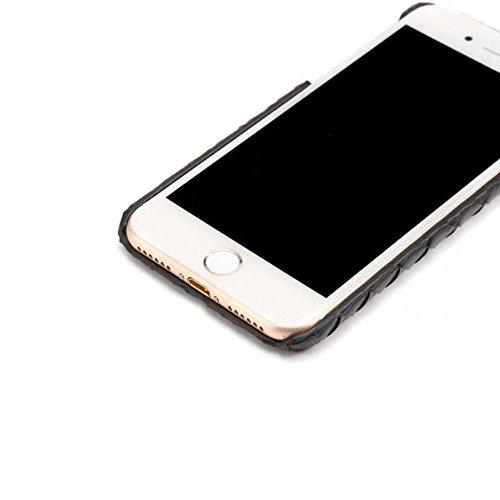 """iPhone 7 Plus Coque Dur Case Fine Mince Style Poids léger, Etui Apple iPhone 7 Plus 5.5"""", Élégant Imité Tissage Texture Anti Choc Housse de Protection pour iPhone 7 Plus Noir"""