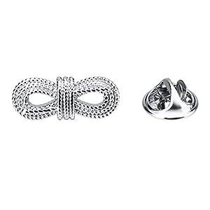 CWYPB Herren Brosche, Paar Silber Anzug Schmetterling Knoten Pin Kragen Mode Schal Clip Schal Schnalle Für Valentinstag Weihnachten 22X9mm
