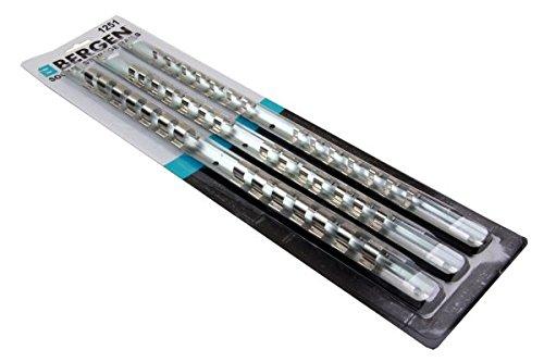 Bergen 3Stück Socket Aufbewahrung Rails 1/4, 3/8& 1/5,1cm–42Clips 1251