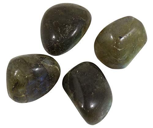 HARMONIZE Labradorita Piedra roulées tamaño clasificado Piezas Piedras- 4 Reiki Naturel