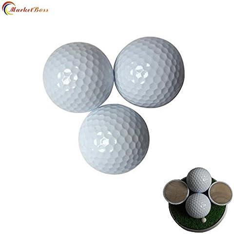 marketboss 10pcs delicated palline da golf con struttura a doppio strato 80% forza Resilience grande sfera lunga distanza per pratica golf/giochi per Golf Dilettanti