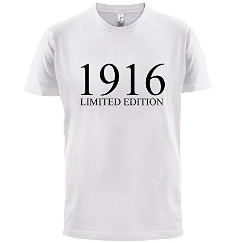 1916 Limierte Auflage / Limited Edition - 101. Geburtstag - Herren T-Shirt - 13 Farben Weiß