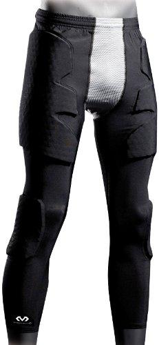 McDavid, Pantaloni da portiere Hex Pro Style Uomo 3/4 Guard II, Nero (Schwarz/Grau), XL