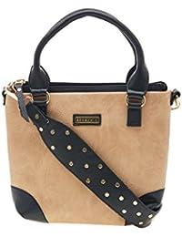 ESBEDA Beige Color Solid Pu Synthetic Material Handbag For Women
