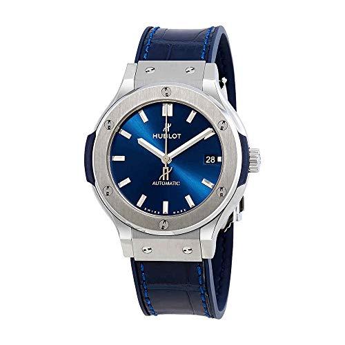 Hublot Classic Fusion Blue Sunray Dial Titanium 38 millimetri orologio automatico da uomo 565.NX.7170.LR