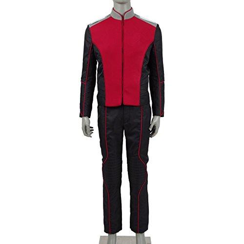 Herren Damen Warship Uniform Abteilungen Kostüme & Zubehör für Cosplay-Party (Rot Sets, Herren-XXL) (Damen Star Trek Kostüm)