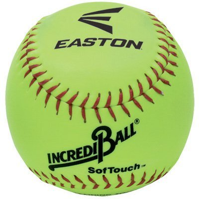 Easton Incrediball SofTouch 10 Softball, Yellow by Easton