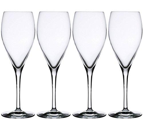 Le Cordon Bleu 4er Set Champagnergläser Kwarx-Glas Sektgläser Flûtes Flöten 26cl - Bleu-glas
