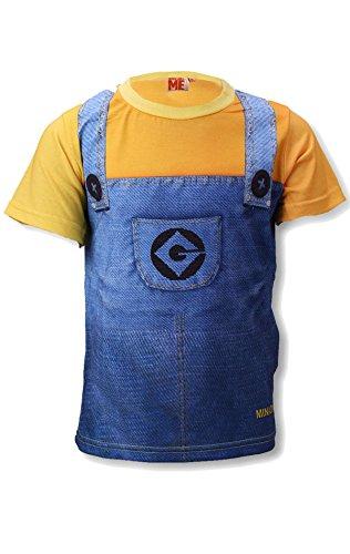 n Kostüm Denim Latzhose Druck-T-Shirt Top Alter 3 bis 8 Jahre (Minion Kostüm Online)