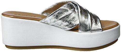 Inuovo 7111, Chaussures Compensées Femme Argenté