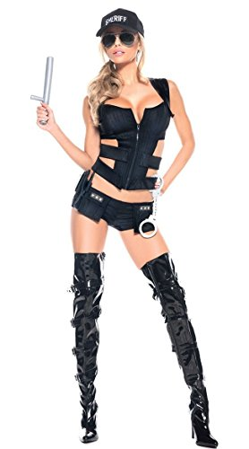 Sexy Sheriff -Kostüm- Set (Medium (32-34)) (Sexy Sheriff Kostüme)