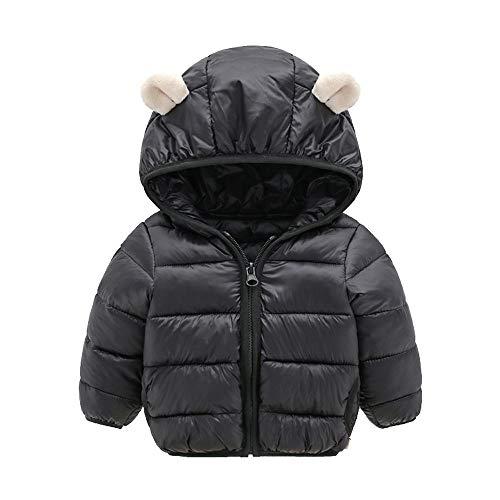 i-uend Baby Mantel - - Kinder Jungen Mädchen Winter Mäntel Jacke Kinder Zip Dicke Ohren Schnee Hoodie Kleidung Für 0-4 Jahre