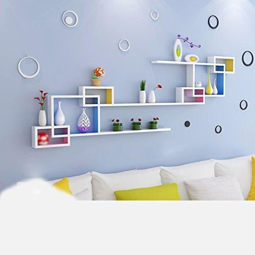 Walls Racks Creative Lattice Bedroom Wall Bookshelf Decoration