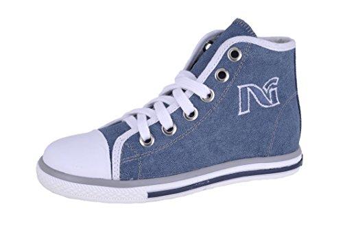 Nero Giardini Junior , Jungen Sneaker Blau blau 30 Denim