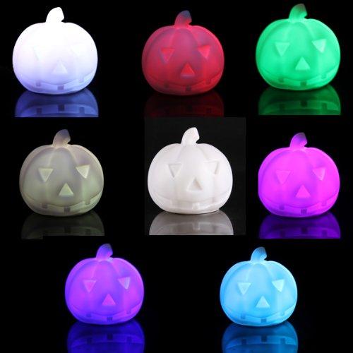 Bluelover Kreative Lampen Bunten Led-Kürbis Nacht Licht Halloween Geschenk