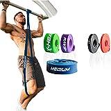 ActiveVikings® Pull-Up Fitnessbänder | Perfekt für Muskelaufbau und Crossfit Freeletics Calisthenics | Fitnessband Klimmzugbänder Widerstandsbänder (3 - Blau : Medium (Mittelstarker Widerstand))