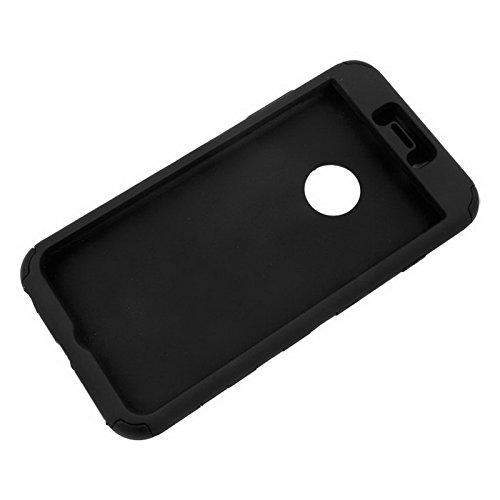 Wkae Case Cover Silikon + Hartplastik Kombination Hülle für das iPhone 6 Plus &6S plus ( Color : White ) Black