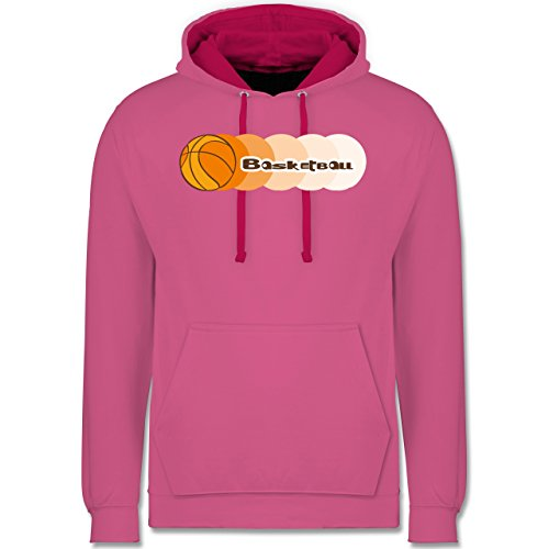 Basketball - Basketball - Kontrast Hoodie Rosa/Fuchsia