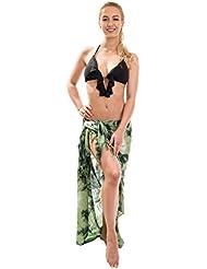 Sarong Pareo Dhoti Lunghi ca. 170cm x 110cm Handbemalt Tie Dye Batik inklusive Kokos Schnalle Wickelrock Strandtuch Tuch Tye Die Viele Modelle