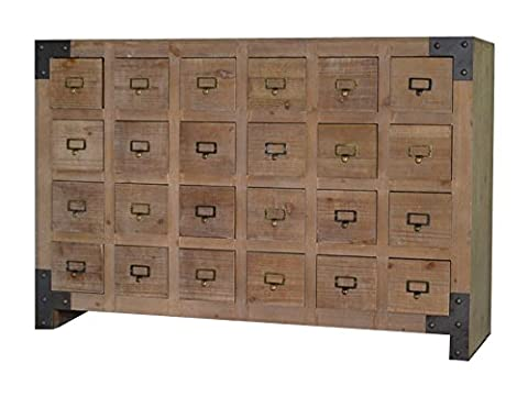 Wooden Vintage Apothecary Chest Industrial Rustic 24 Drawers Shabby Chic French