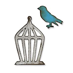 Sizzix Movers & Shapers Magnetic Die 2/Pkg By Tim Holtz-Bird & Cage