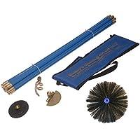 Bailey–Juego de limpieza industrial para chimeneas Sweeping Kit de drenaje (12piezas)