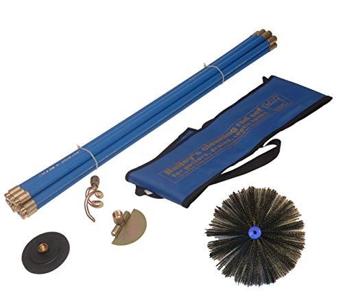 Bailey-Juego de limpieza industrial para chimeneas Sweeping Kit de drenaje (12piezas)
