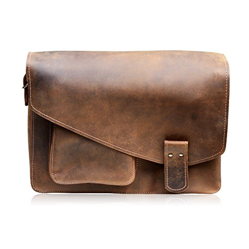 "Best MANNA Leather Laptop Bag for new MacBook 12″, Macbook Pro Retina 13"" and Macbook Air 11"" 