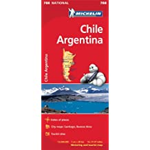 Chile and Argentina Map (Michelin National Map)