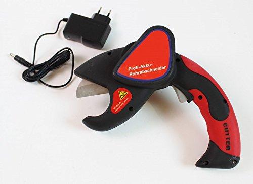 Akku Rohrschere Schere für Rohre Rohrabschneider Sanitär Heizung Kunststoff (Rohr Heizung)