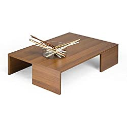 Mesa de centro de estilo moderno madera de nogal