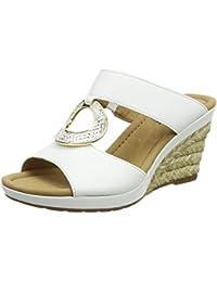 Stuppy - Zuecos de cuero para mujer blanco blanco, color blanco, talla 39